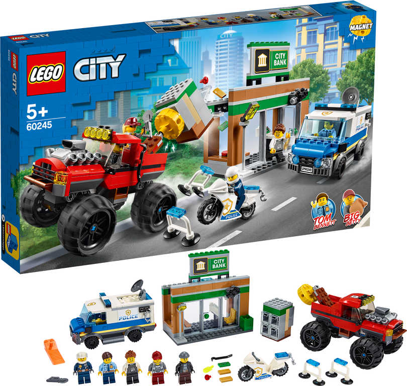 LEGO CITY Loupež s monster truckem 60245 STAVEBNICE