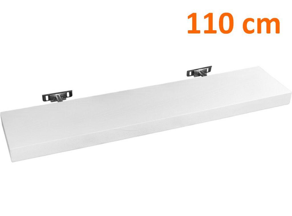 Nástěnná police STILISTA SALIENTO - bílá 110 cm
