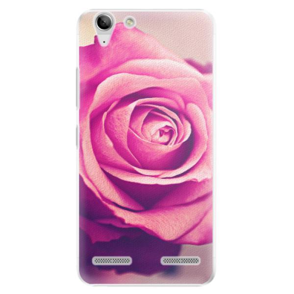Plastové pouzdro iSaprio - Pink Rose - Lenovo Vibe K5