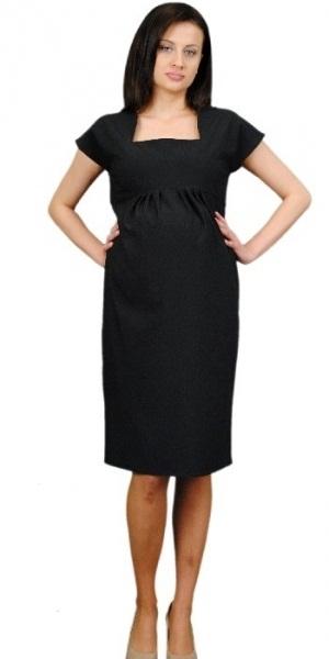 395b51b32b Těhotenské šaty ELA - černá