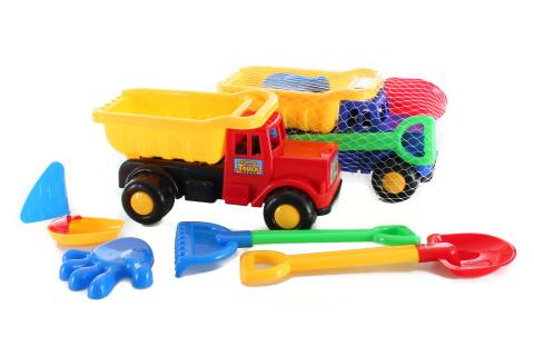 Sklápěčka s hračkami na písek
