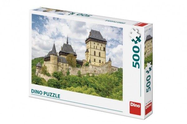 Puzzle hrad Karlštejn 47x33cm 500 dílků v krabici 33,5x23x3,5cm