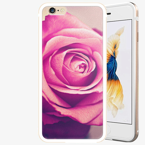 Plastový kryt iSaprio - Pink Rose - iPhone 6 Plus/6S Plus - Gold