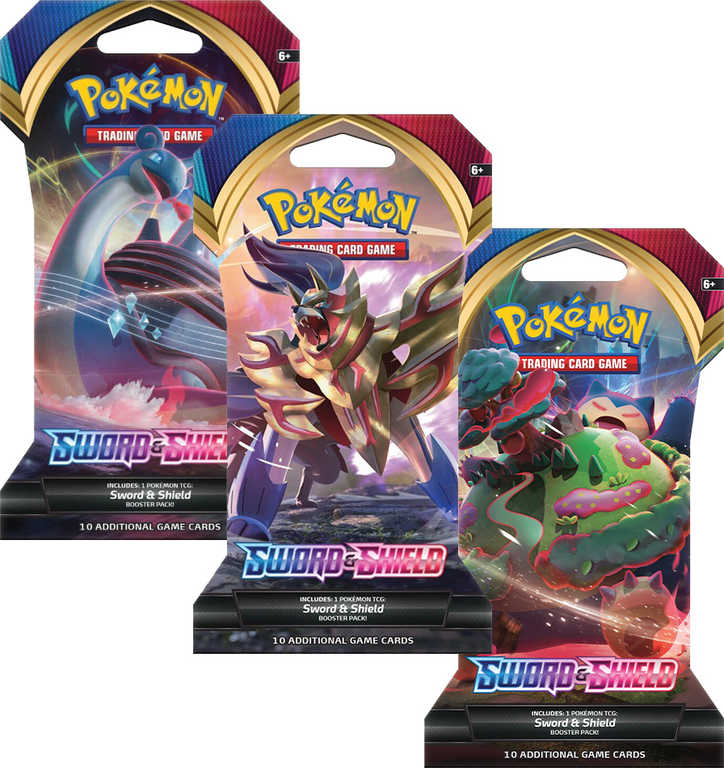 ADC HRA Karty doplňkové TCG Pokémon Sword and Shield 1 Blister Booster set 10 karet