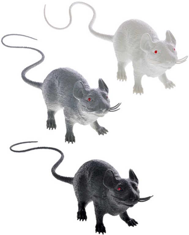 Krysa pískající 48 cm - 3 barvy