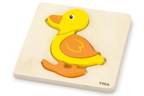 Dřevěné puzzle pro nejmenší - kačenka