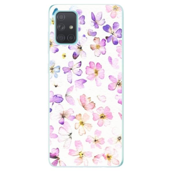 Odolné silikonové pouzdro iSaprio - Wildflowers - Samsung Galaxy A71