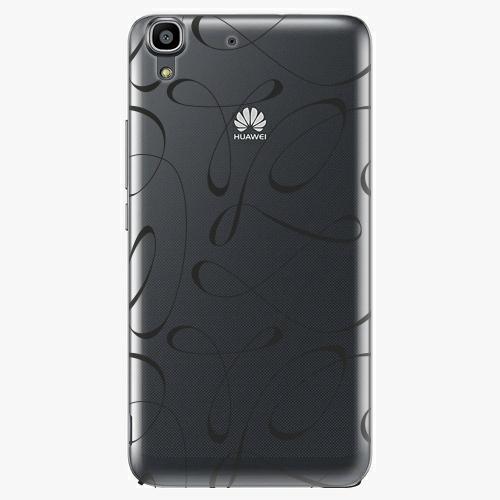 Plastový kryt iSaprio - Fancy - black - Huawei Ascend Y6