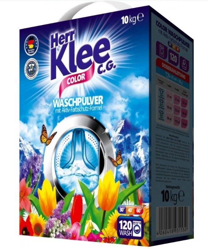 Herr Klee Color prací prášek, 120 praní, box 10 kg