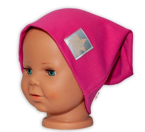baby-nellys-hand-made-detska-funkcni-cepice-s-dvojitym-lemem-tm-ruzova-48-50-cepicky-obvod
