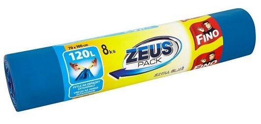 Fino Zeus pytle na odpad, zatahovací, 32 µ, 70 × 100 cm, 120 l, 8 ks