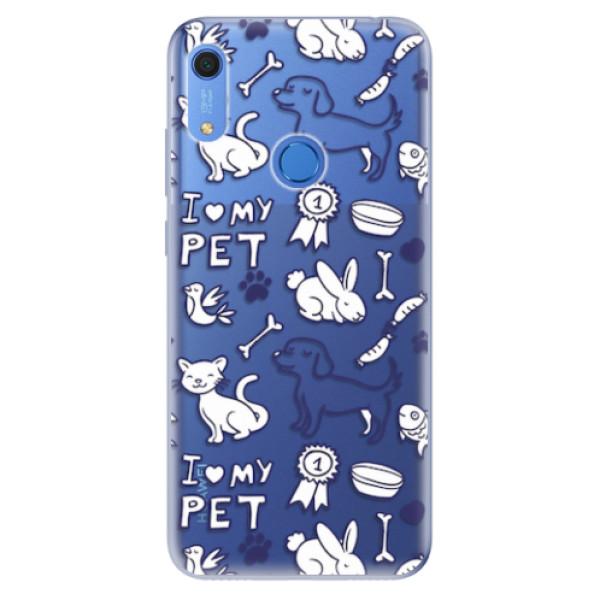 Odolné silikonové pouzdro iSaprio - Love my pets - Huawei Y6s