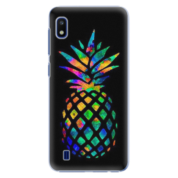 Plastové pouzdro iSaprio - Rainbow Pineapple - Samsung Galaxy A10