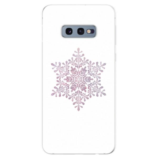 Odolné silikonové pouzdro iSaprio - Snow Flake - Samsung Galaxy S10e