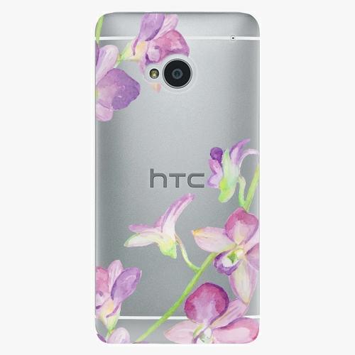 Plastový kryt iSaprio - Purple Orchid - HTC One M7