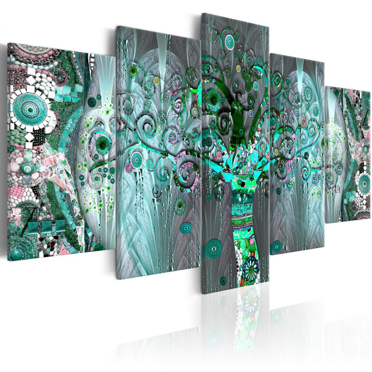 Abstraktní most - mozaikový strom - 100x50 cm