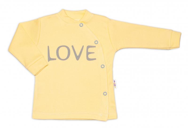 Baby Nellys Bavlněná košilka Love zapínání bokem