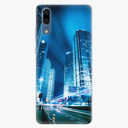 Silikonové pouzdro iSaprio - Night City Blue - Huawei P20