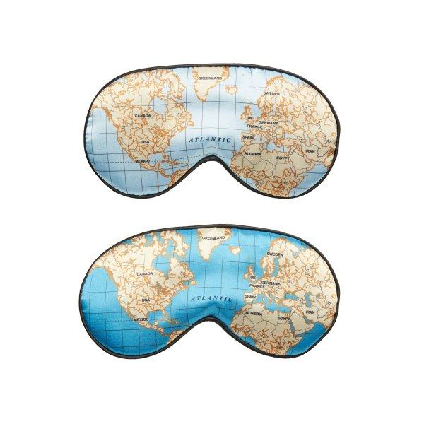 Hebká maska na spaní - Vzor mapy