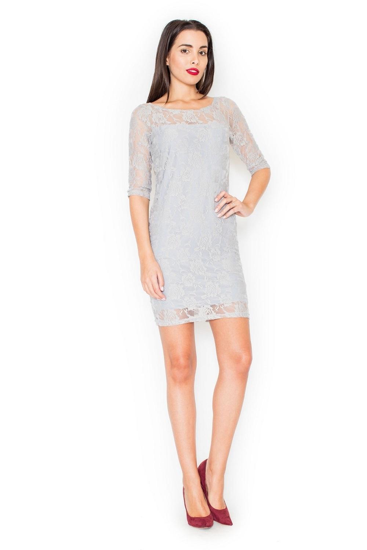 Dámské šaty K109 grey - Šedá XL empty 91fb86817cc