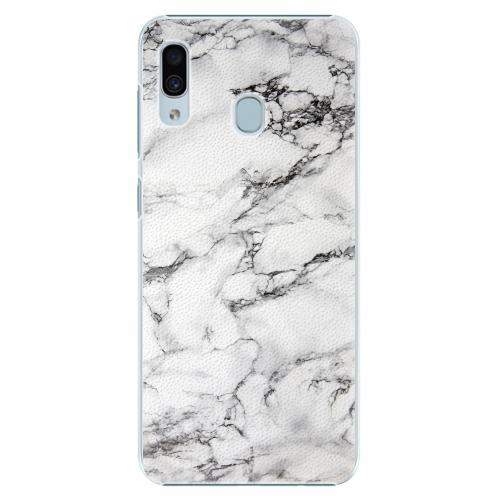 Plastový kryt iSaprio - White Marble 01 - Samsung Galaxy A30