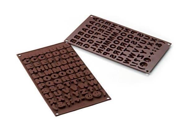 Silikonová forma na čokoládu – abeceda
