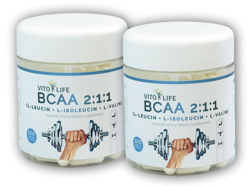 2x BCAA 2-1-1 100 kapslí