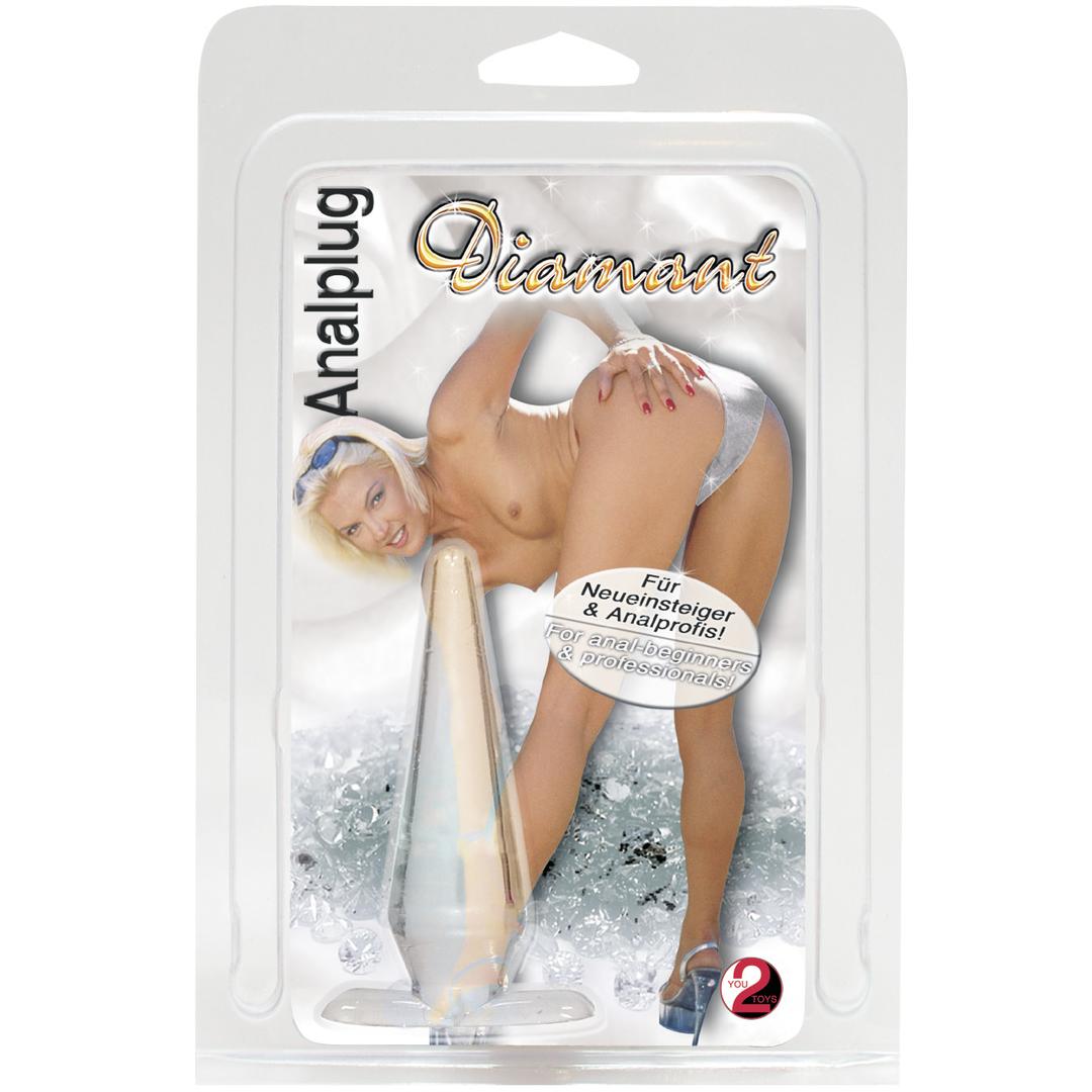 Průhledný anální kolík - Diamant Analplug