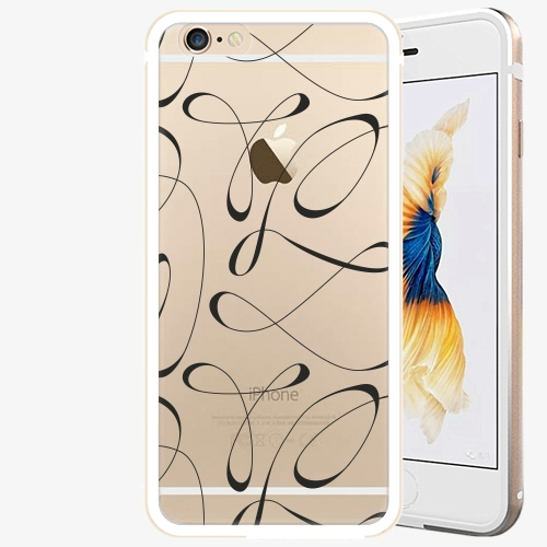 Plastový kryt iSaprio - Fancy - black - iPhone 6/6S - Gold