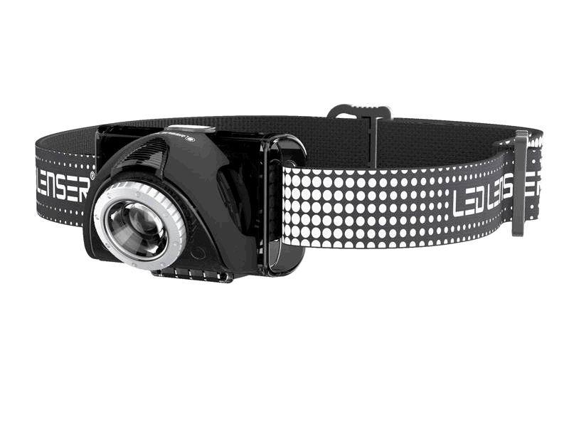 LED čelovka Ledlenser SEO 7R černá, 1x Li-Ion akumulátor, USB kabel