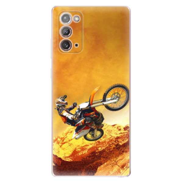 Odolné silikonové pouzdro iSaprio - Motocross - Samsung Galaxy Note 20