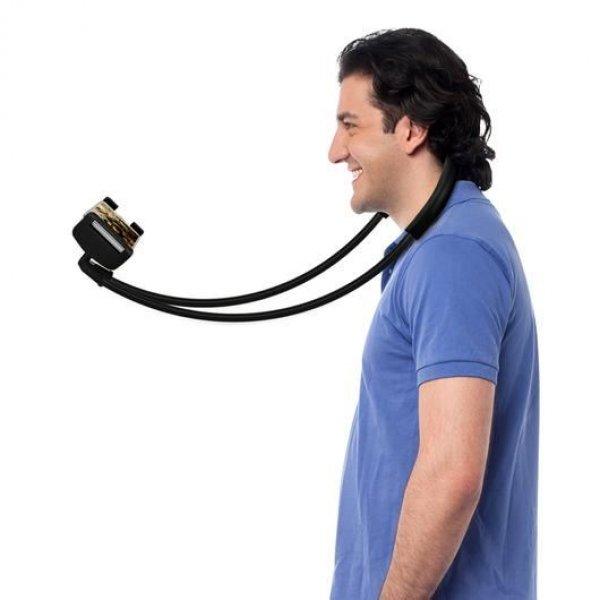 Líný držák na mobil - Černá