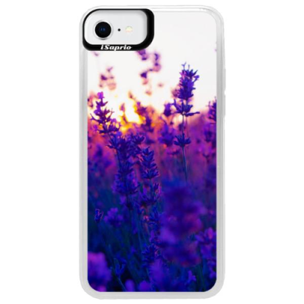 Neonové pouzdro Blue iSaprio - Lavender Field - iPhone SE 2020