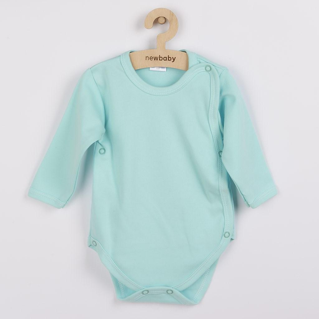 Kojenecké celorozepínací body New Baby Classic II - mátové - zelená/68 (4-6m)