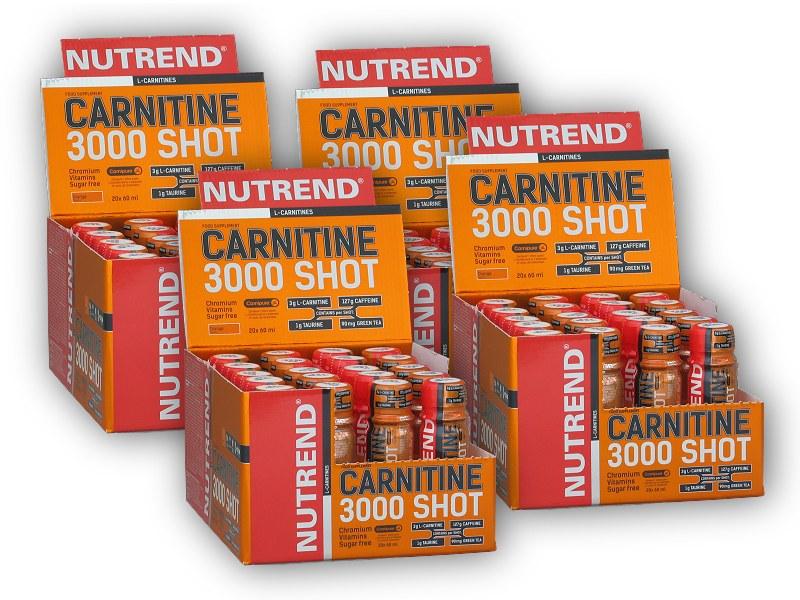 3x Carnitine 3000 Shot 20x60ml amp + - 1xZDARMA-ananas