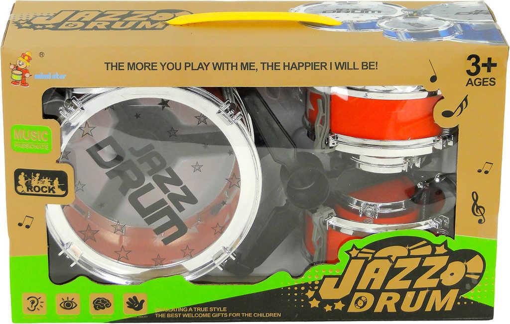 Dětská sada bubnů malý rocker v krabici