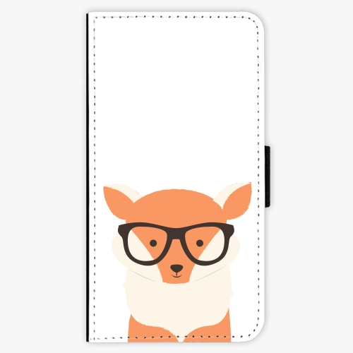 Flipové pouzdro iSaprio - Orange Fox - Samsung Galaxy J3 2017