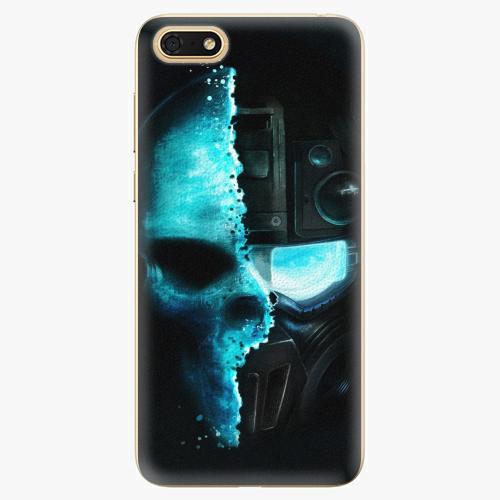 Silikonové pouzdro iSaprio - Roboskull - Huawei Honor 7S