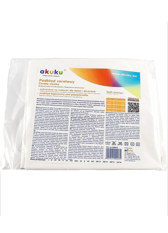 Nepromokavá podložka Akuku 50x120 - tenká - bílá