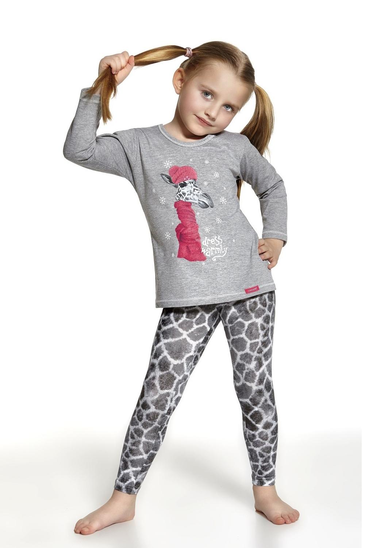 Dívčí pyžamo 969/52 Giraffe - Melanž/86/92