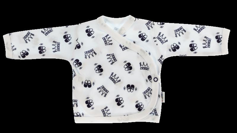 Mamatti Novorozenecká košilka Princezna - zapínání bokem, granátová, vel. 62 - 62 (2-3m)