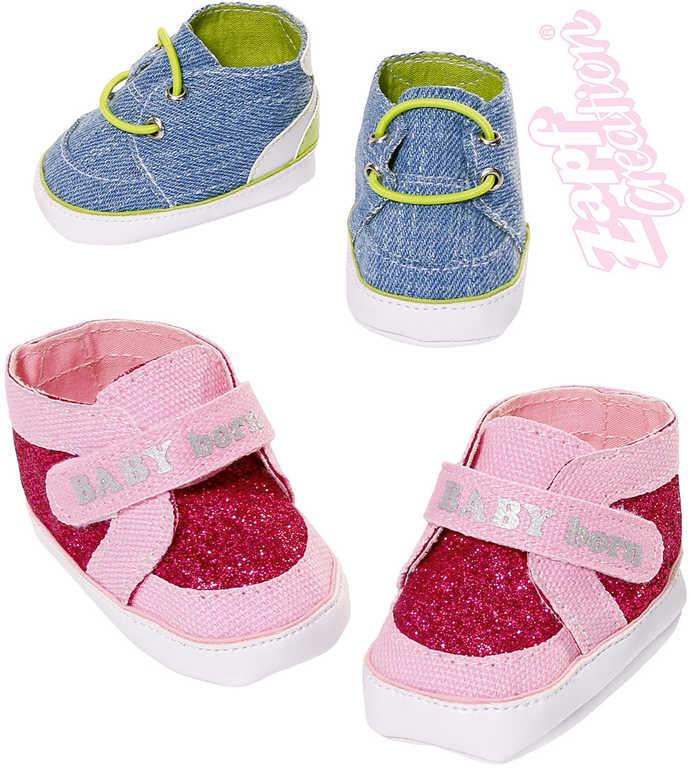 ZAPF BABY BORN Tenisky 1 pár pro panenku miminko botičky 2 druhy