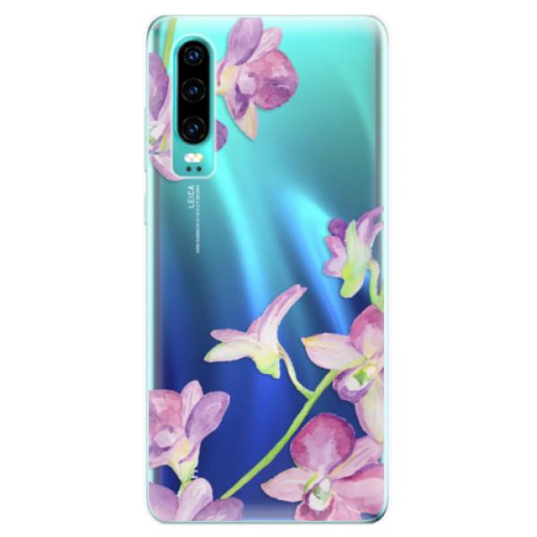 Odolné silikonové pouzdro iSaprio - Purple Orchid - Huawei P30