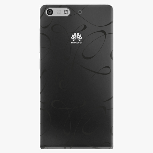 Plastový kryt iSaprio - Fancy - black - Huawei Ascend P7 Mini