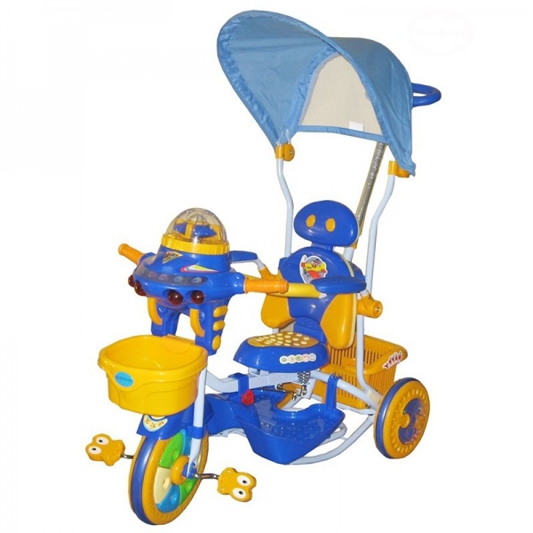 detska-multifunkcni-trikolka-euro-baby-ufo-modro-zluta