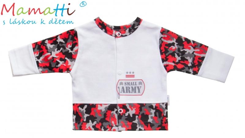 Bavlněná košilka Mamatti - ARMY - 74 (6-9m)