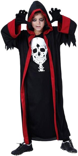 KARNEVAL Šaty Temný pán 2 vel. M (120-130cm) 5-9 let KOSTÝM