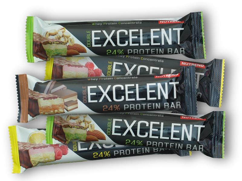 4x Excelent Double Bar 85g + 1x - zdarma-citron-tvaroh-malina-s-brusinkami
