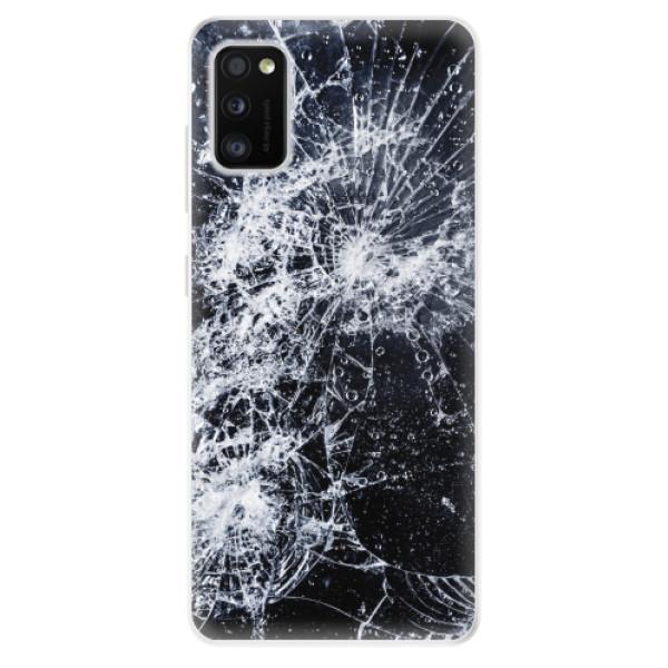 Odolné silikonové pouzdro iSaprio - Cracked - Samsung Galaxy A41
