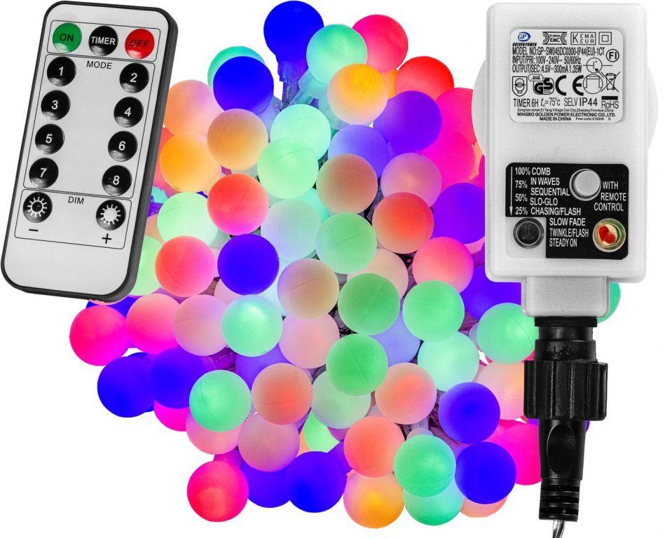 Párty LED osvětlení 20 m - barevné 200 diod + ovladač